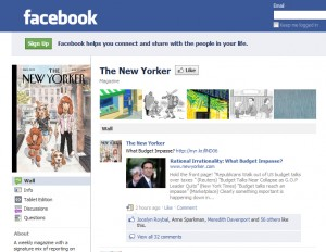 The New Yorker, Facebook